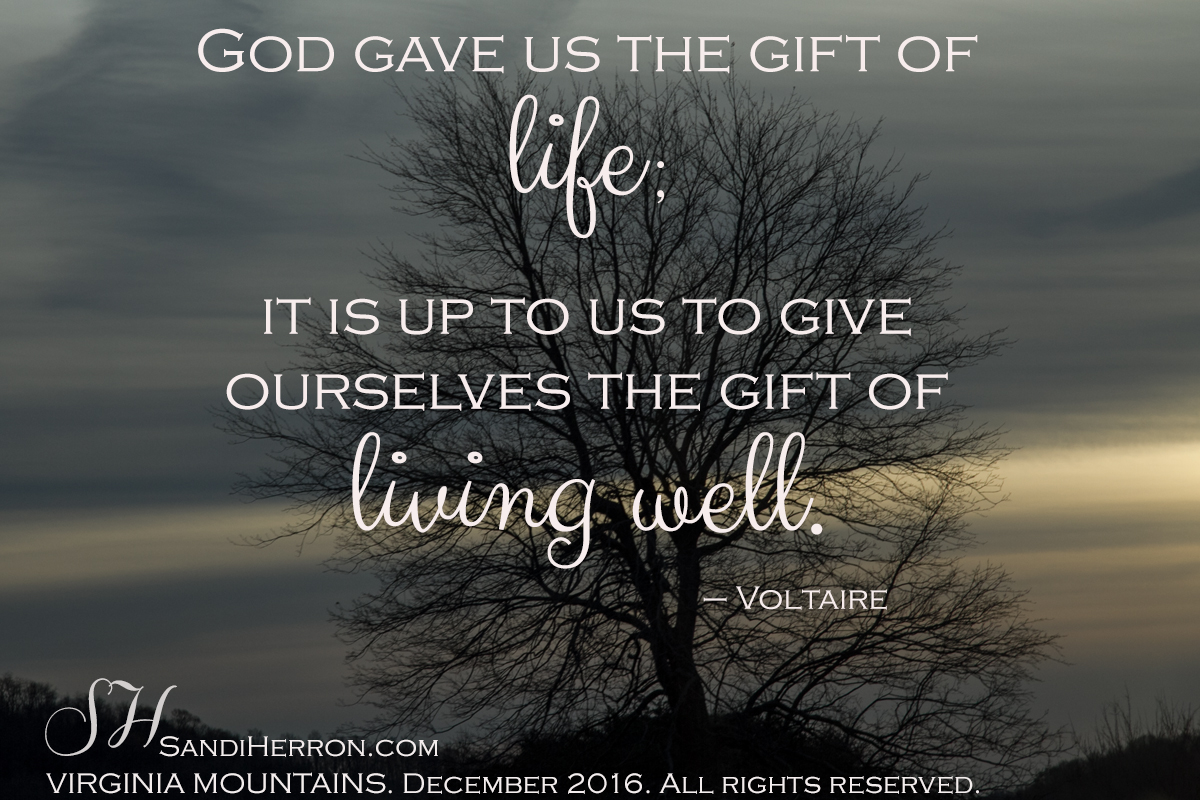 The Gift of Life; Live it Well